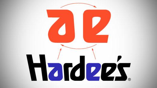 letter a logo. Hardee#39;s Classic Logo Letter