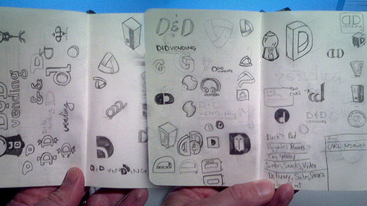 D&D Vending Moleskine Sketches