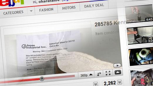 Ebay + Youtube = Awe$ome